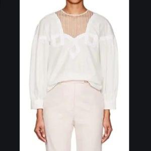 Calvin Klein Cotton Prairie Top Made in Italy NWT